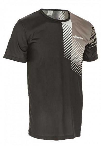 Funkční triko unisex, krátký rukáv, černo-šedé