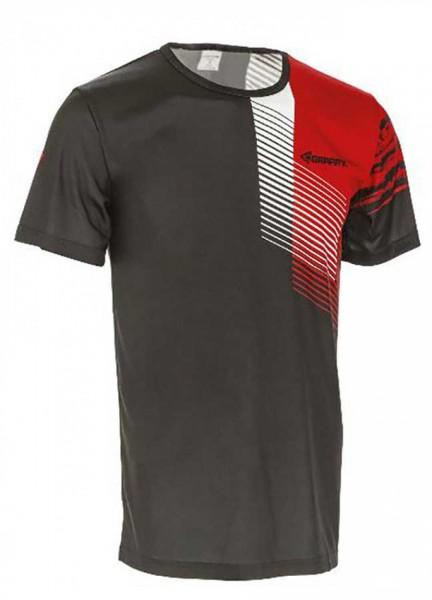Funkční triko unisex, krátký rukáv, černo-červené
