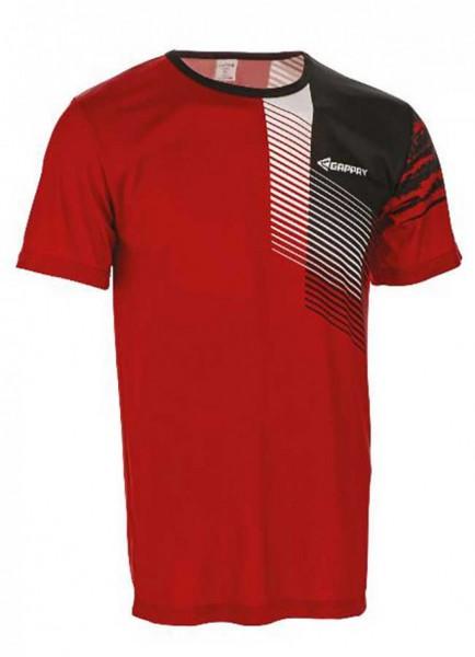 Funkční triko unisex, krátký rukáv, červeno-černé