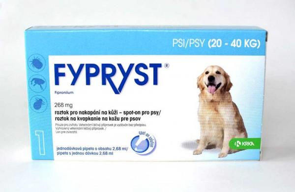 Fypryst pro psy 20-40 kg, spot-on