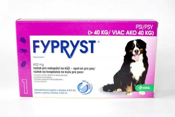 Fypryst pro psy nad 40 kg, spot-on