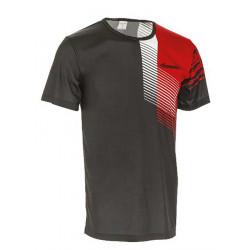 Tričko unisex - krátký rukáv, černo- červené