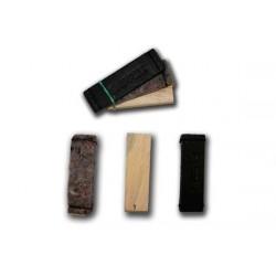 Předměty stopa - kůže, textil, dřevo