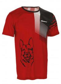 Tričko unisex - krátký rukáv, červeno- černé
