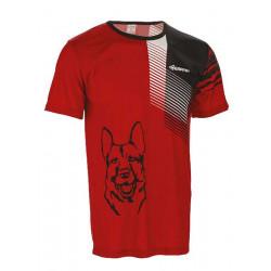 Tričko unisex - krátký rukáv, červeno- černé (DOPRODEJ)