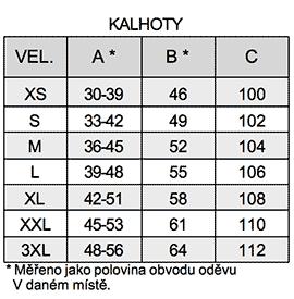 tabella delle taglie